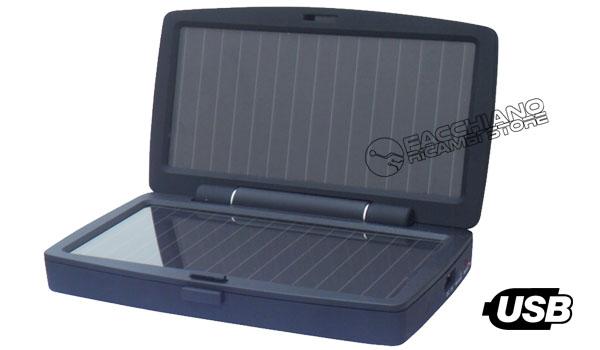 Pannello Solare Portatile Usb : Carica batterie solare usb portatile per dispositivi