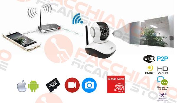 TELECAMERA WIRELESS IP SD HD INTERNA PER VISIONE REMOTA SU SMARTPHONE CON APP  eBay